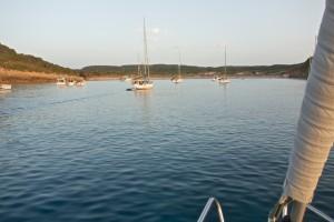 Our favorite anchorage, Cala de Algayerens