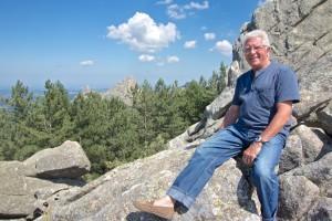 Miguel rock climbing