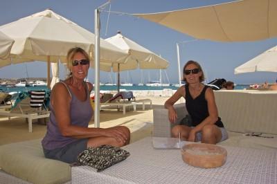 Vickie & Karolina enjoying the Beach Club