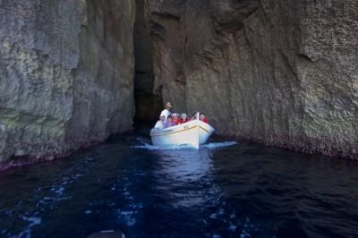 Tunnel in to Dwerja Lagoon