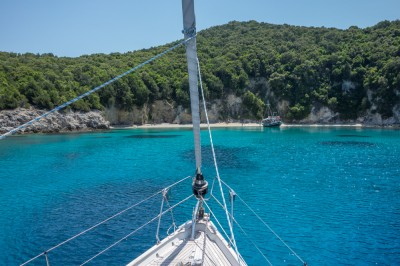 Typical colors of the Ionian sea