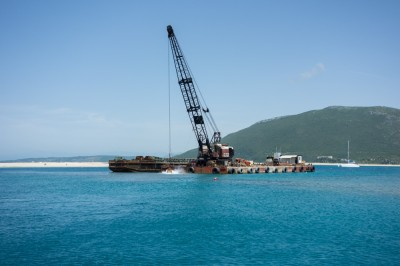 Dredging in Lefkas Canal