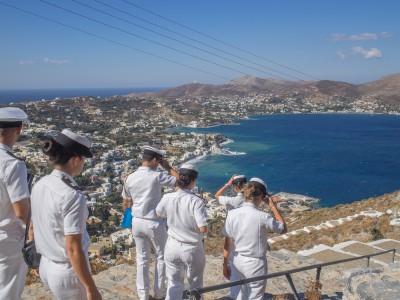 Coast Guard visting the castle