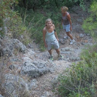 It was a steep trail