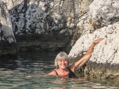 Iris swimming in Woodhouse Bay