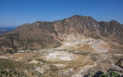 The volcano area seen from Nikia