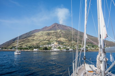 Early morning view of Stromboli