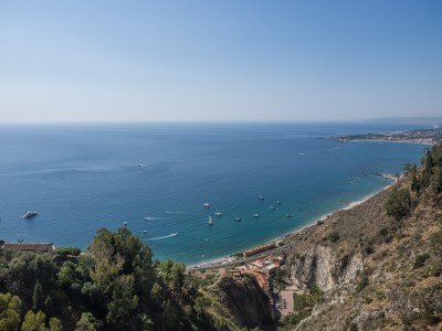 Taormina Bay seen from Taormina village