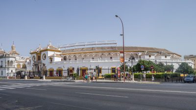 The bull fighting arena in Sevilla