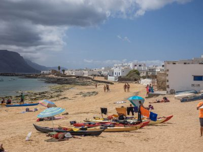 Beach life at Caleta del Sego